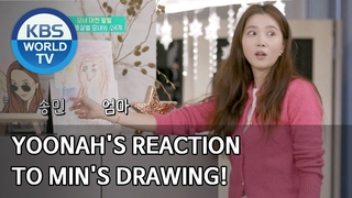 News | Yoonah's reaction to Min's drawing! [Stars' Top Recipe at Fun-Staurant/ENG/]