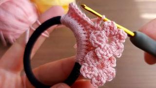 Super easy hair clip crochet model how to heir clip Bu modele bayıldım