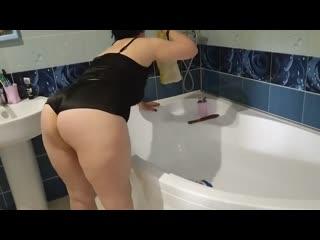 Муж возбудился и трахнул жену, busty milf mom mature sex porn tit ass boob fat wife new cum HD (Инцест со зрелыми мамочками 18+)