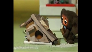 Cheburashka but the animation is very smooth (DAIN AI 50fps)