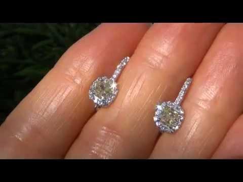 UNTREATED VVS2 Fancy Yellow Diamond Solid 18K Gold Earrings - Virtually Flawless
