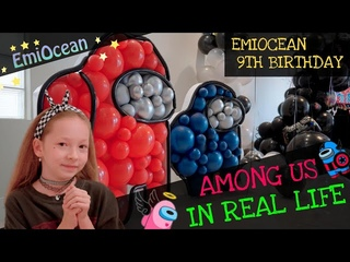 Among Us in Real Life - EmiOcean Birthday in the style of the Game Among US