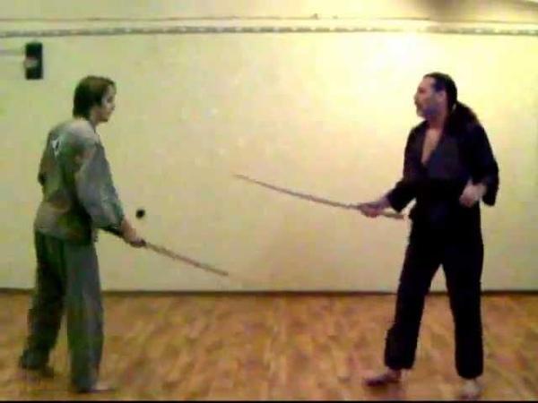 Bokken sparring фехтование бокеном в BOKUDO
