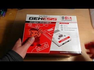 Распаковка, обзор, первое включение и разбор современного денди (приставка retro genesis 8 bit)
