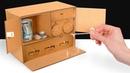 Самодельный картонный сейф с 3 замками Ключ и кодовые замки