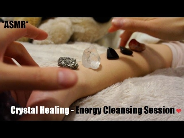 ASMR CRYSTAL HEALING ENERGY CLEANSING SESSION SUPER RELAXING HAND MOVEMENTS WHISPER
