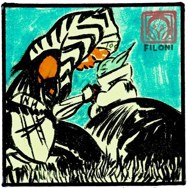 Асока и Грогу на скетче Дэйва Филони Создатель «Войн клонов» и «Мандалорца» поблагодарил всех фанатов за поддержку в прошедшем году и заявил, что для него большая честь рассказывать историю для