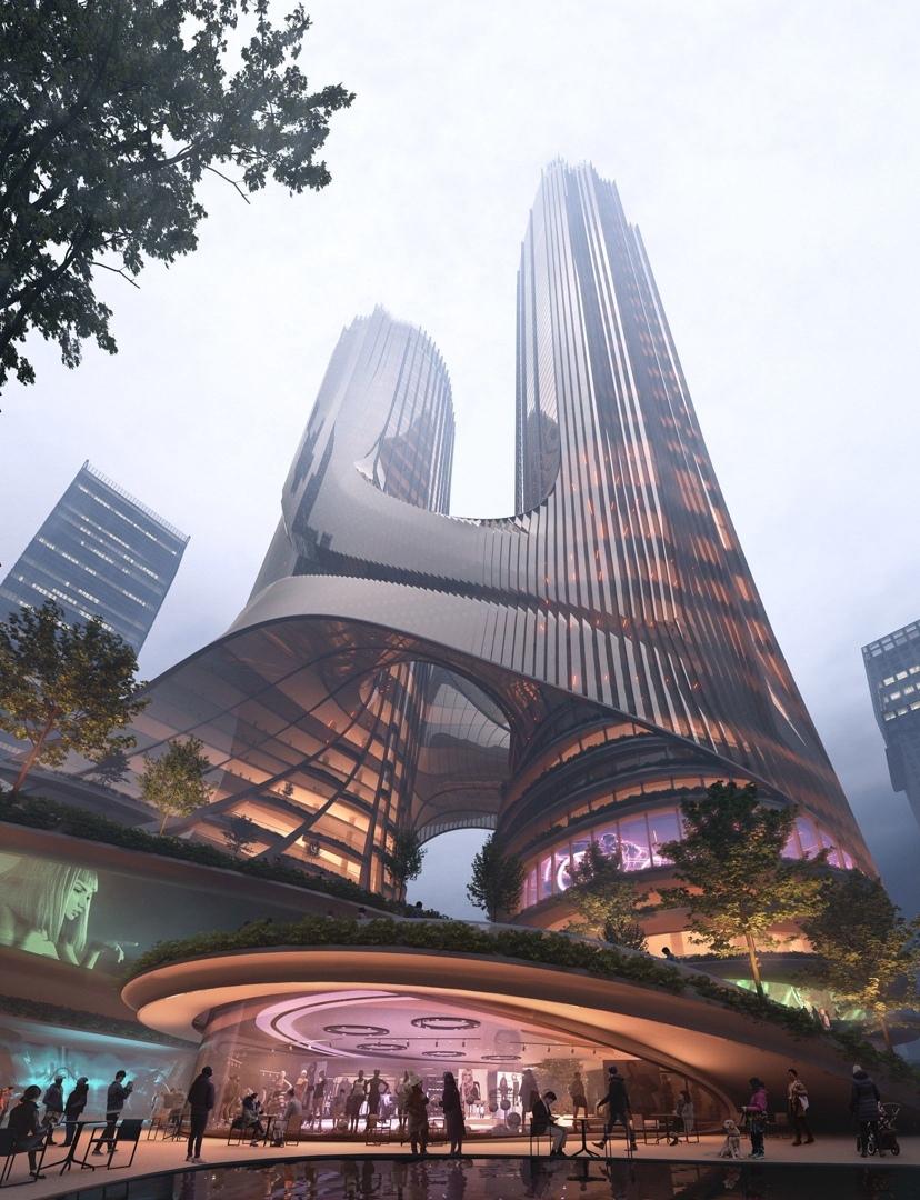 Концепция и победитель конкурса Башня С в Шэньчжэнь