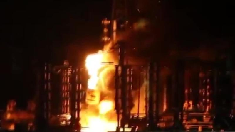 Взрыв и пожар на ТЭС в Энергодаре сегодня, Запорожье . Украина Вибух в Енергодар