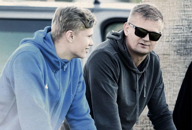 Эрлинг Холанд с отцом