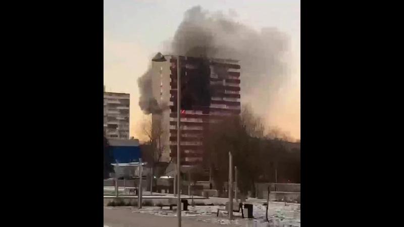 Пожар в доме на Большой Академической