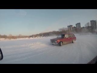 Ледовый трек ICE RING сразу после первого этапа DriftZIMA