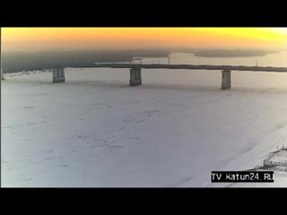 Веб-камеры К24: Закат над Обью