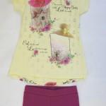 Комплект для девочки из 2 пр. майка и лосины