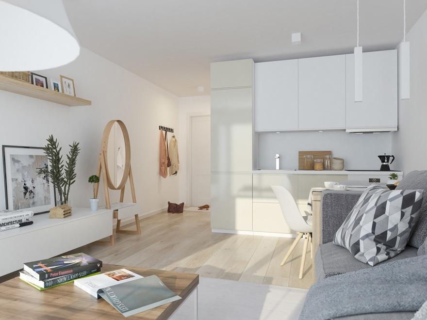Дизайн-проект квартиры-студии от Александры Хныкиной.