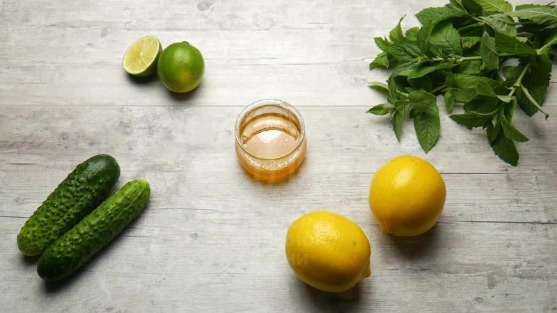 Огуречно-мятный лимонад с лаймом