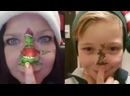 Mom and Son Paint Twerking Christmas Characters on Noses