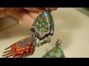 Павловопосадские платки серьги и кулоны