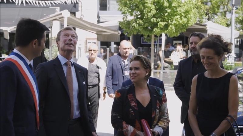 Великий герцог Анри и Великая герцогиня Мария Тереза на фестивале франкоязычных фильмов в Ангулеме