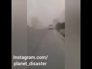 #Соленая #буря в #городе #Нукус, #Узбекистан (14 июня 2019)