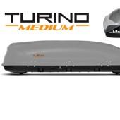 """Бокс-багажник на крышу Аэродинамический  """"Turino Medium"""" ДВУСТОРОННЕЕ открывание"""