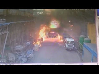 Авария на металлургическом заводе в Китае