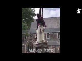 Демонтаж памятника Леопольда II - короля Бельгии - 09/06/2020