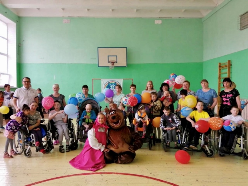 Праздник в день защиты детей в Мурыгинском доме-интернате