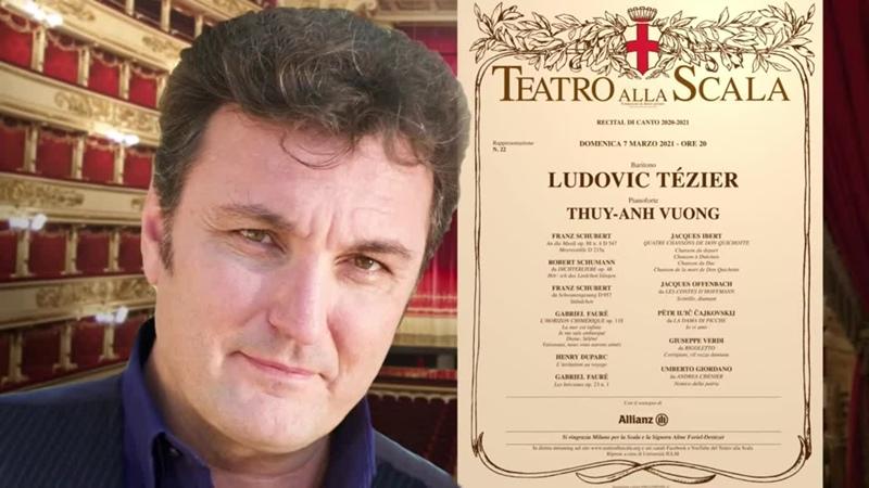Ludovic Tézier recital Scala 07 03 2021