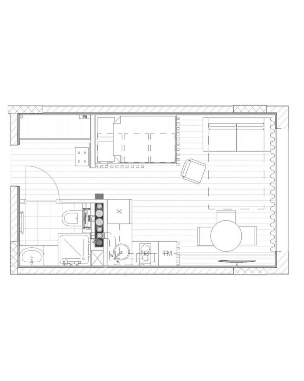 Дизайн-проект студии 24 кв.