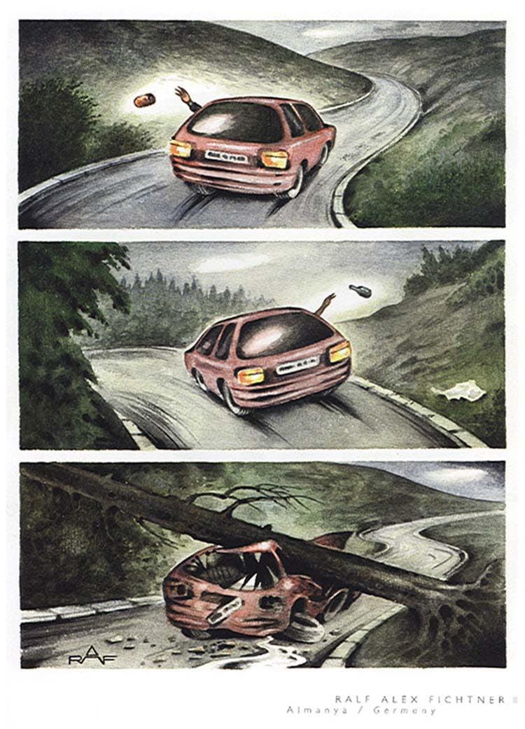 Ральф Алекс Фихтнер из Германии нарисовал поучительную
