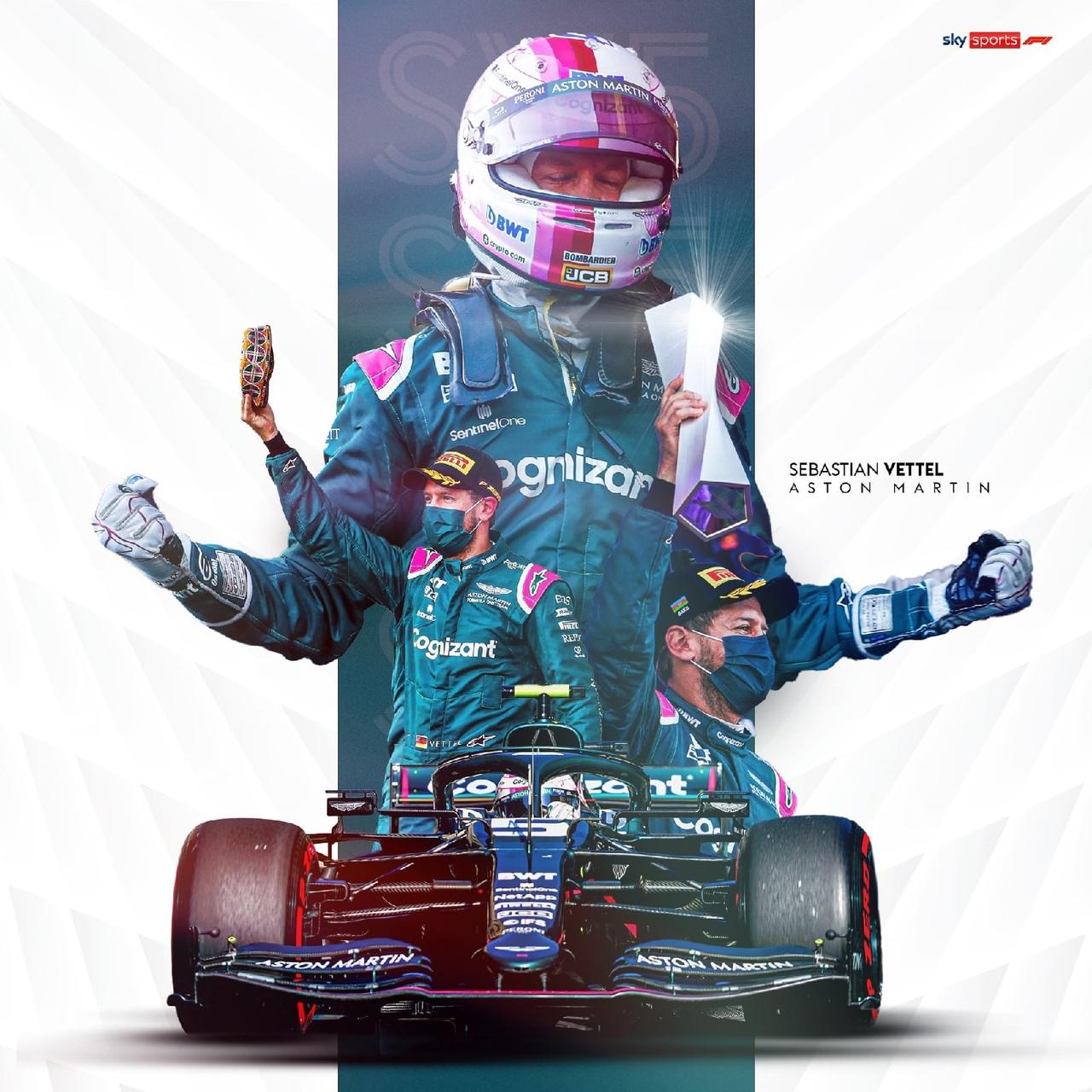 S. Vettel, Sky Sports poster