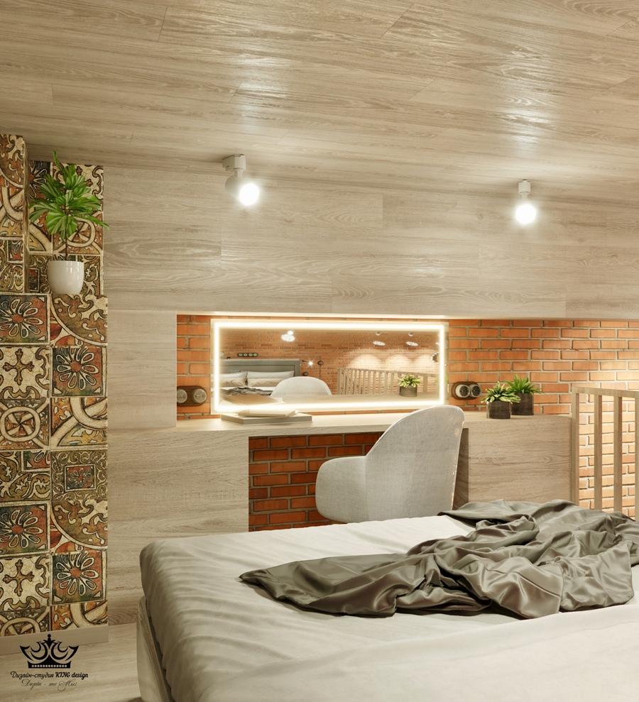 Проект двухуровневой квартиры 30 кв.