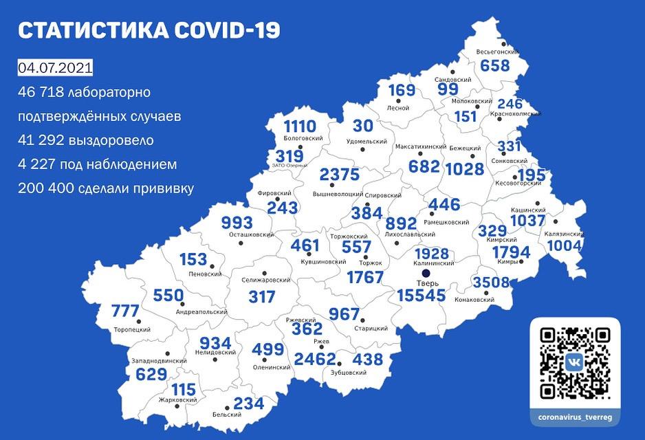 Число заражённых ковидом в Тверской области бьёт новый антирекорд