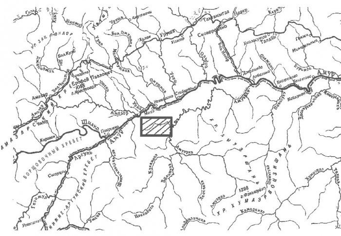 Желтуга на карте. Русская Калифорния