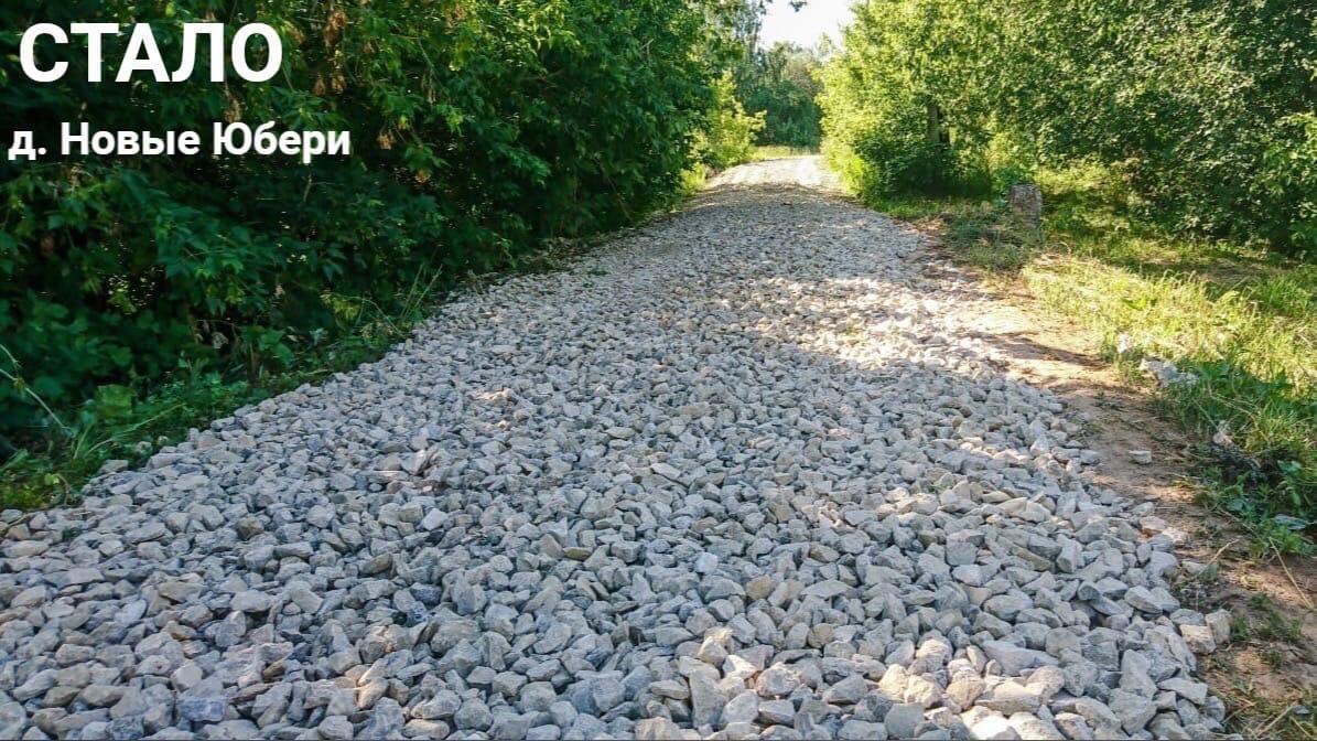 В Можгинском районе продолжается ремонт дорог в