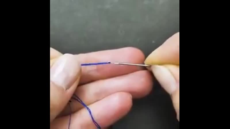 Как вдеть нитку в иголку