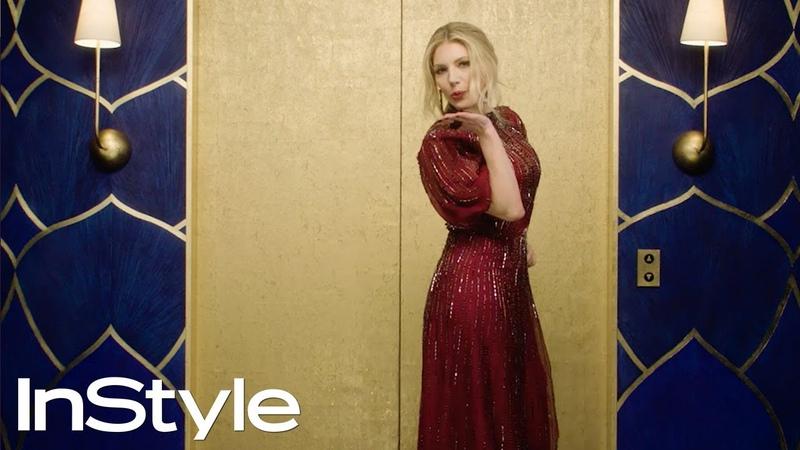 Katheryn Winnick 2020 Golden Globes Elevator InStyle