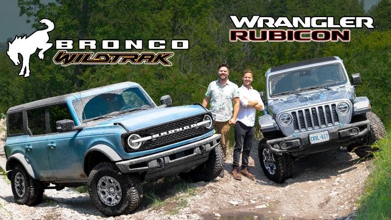 2021 Ford Bronco Wildtrak vs Jeep Wrangler Rubicon OFF ROAD TEST