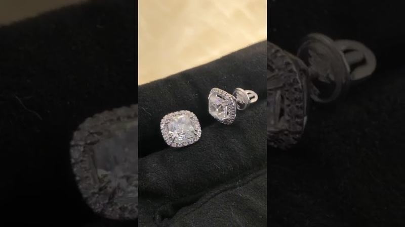 Проводим геммологическую оценку сережек с бриллиантами в Гем Эксперт Урал