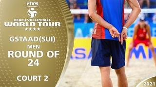 LIVE 🔴  Court 2   Men's R24   4* Gstaad 2021