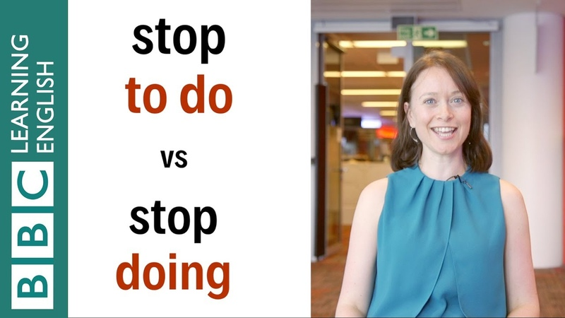 Stop doing vs Stop to do English In A Minute