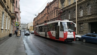 Трамвай, маршрут №49 ЛВС-2005 б.1102 () Санкт-Петербург