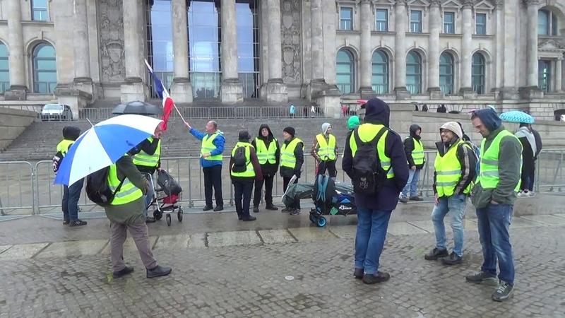 Deutschlandweite Gilets Jaunes Gelbe Westen Mobilisierung Reichtag Berlin 23.03.2019