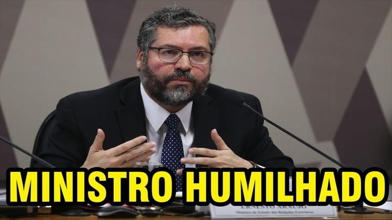 SENADOR FORMADO EM HISTÓRIA HUMILHA MINISTRO OLAVISTA