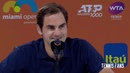 Roger Federer I'm just watching a little bit my opponents - Miami 2019 (HD)