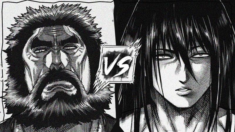 Kuroki Gensai The Devil Lance VS Kiryu Setsuna The Beautiful Beast [FULL FIGHT] - Kengan Ashura