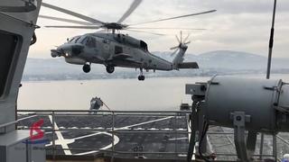 Kurtarma Gemisi TCG Alemdar, 4 yıldır Türk ordusuna hizmet veriyor / Helikopter İniş Testi