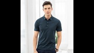 Мужская футболка поло, однотонная, с коротким рукавом, обтягивающая, повседневная, для лета, 2020