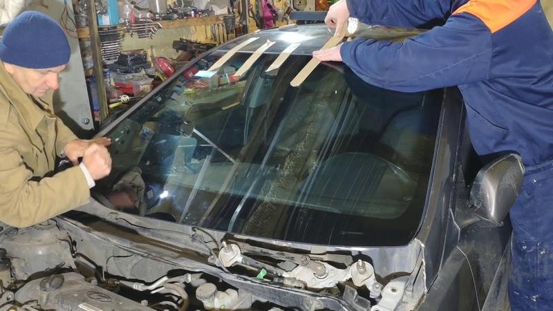 Замена лобового стекла Hyundai Solaris Ремонт битка